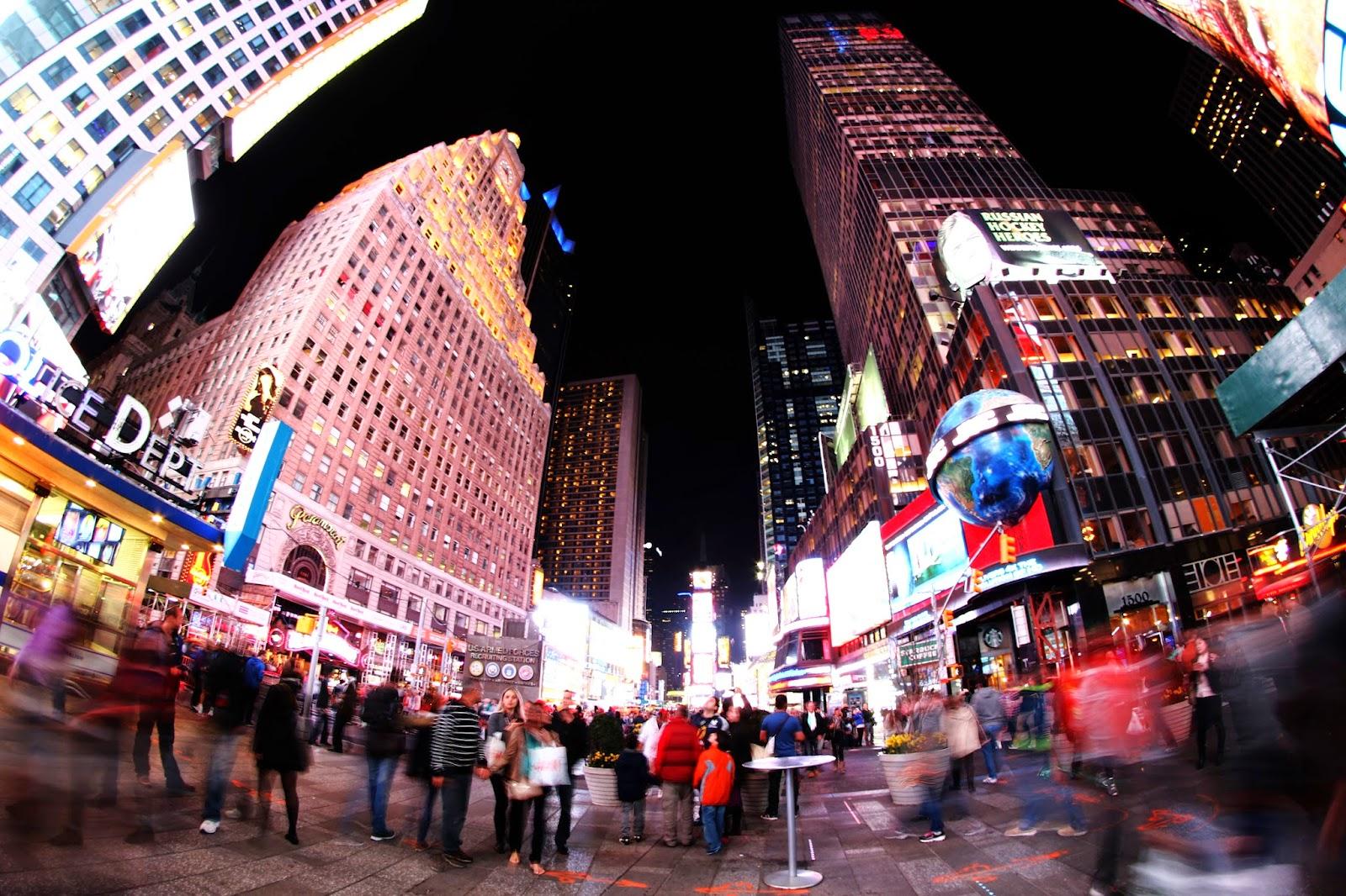 Visitar Nova Iorque debaixo das luzes de TIMES SQUARE | EUA