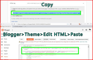 how to copy and paste html tag to google search console