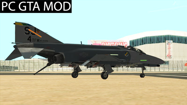 Free Download  McDonnell Douglas F-4E Phantom II  Mod for GTA San Andreas.