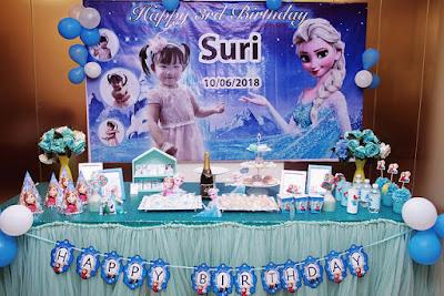 trang trí không gian sinh nhật chủ đề công chúa elsa