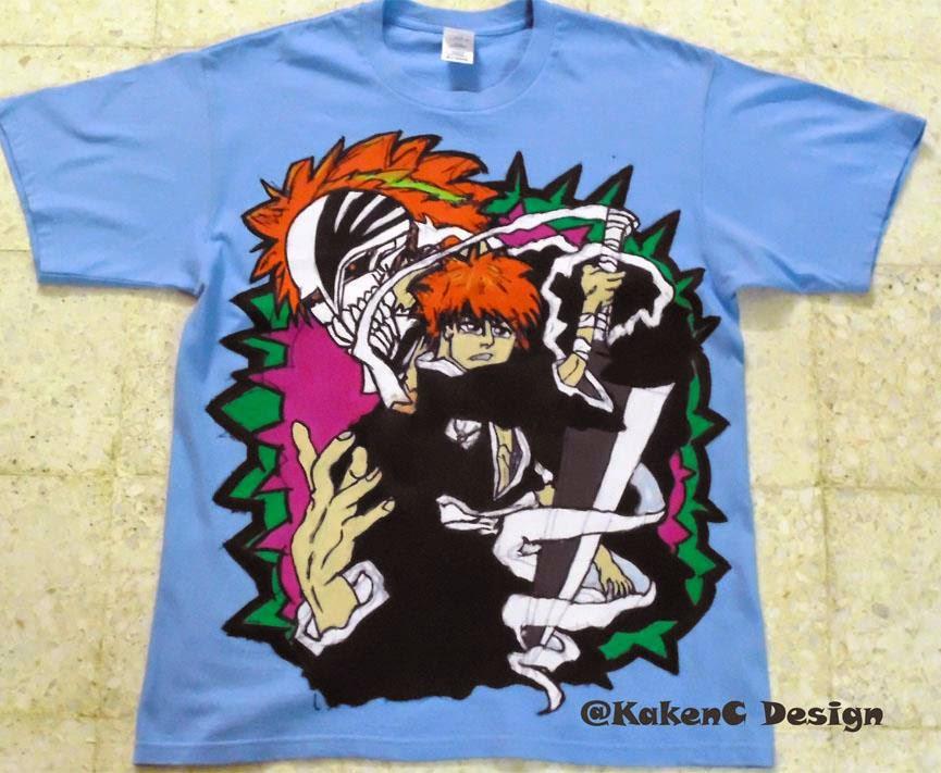 Bleach Ichigo Kurosaki Custom Hand Painted T Shirt For