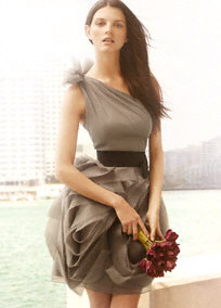 The Bridesmaid Dress And Bouquet In Picture Below Are Inspiration For This Week S Color Combination A Shade Of Gray Accented By Burgundy