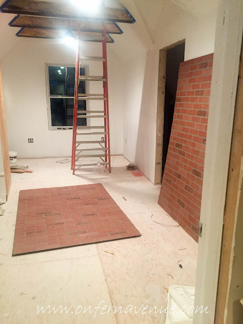 Faux Red Brick Panel Installation