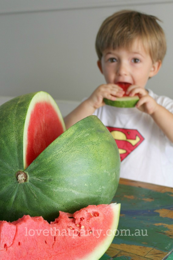 Valentine's Day Watermelon Smoothie Kids Activity @ Love That Party