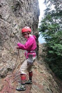 金比羅山ロープクライミング