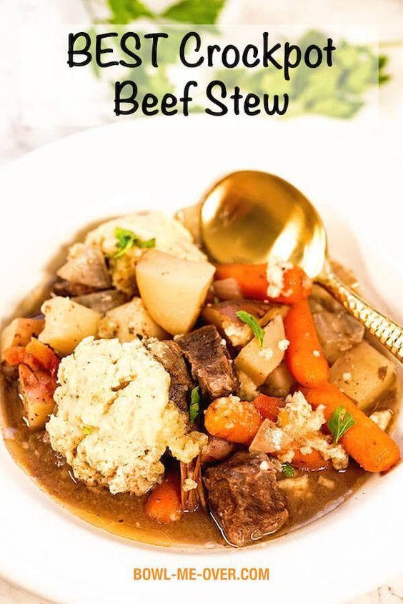 BEST Crockpot Beef Stew Recipe
