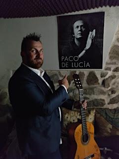 """Félix Crujera """"junto"""" a Paco de Lucía"""