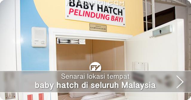 Senarai Lokasi Tempat Baby Hatch Seluruh Malaysia