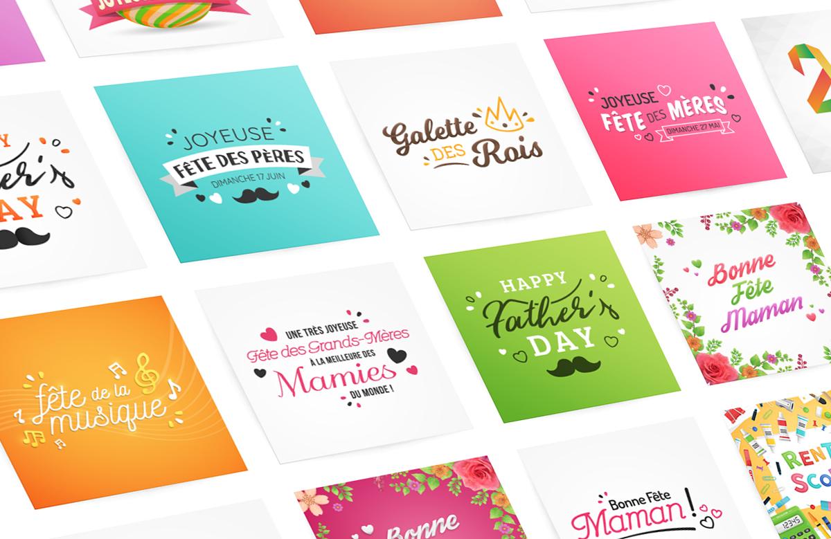 Création cartes postales, cartes de voeux