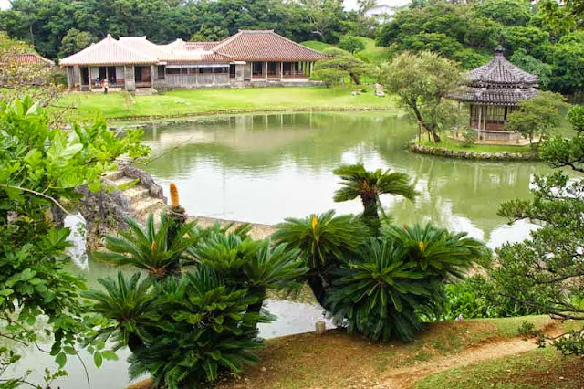 Chinese style, gardens, pond, buildings