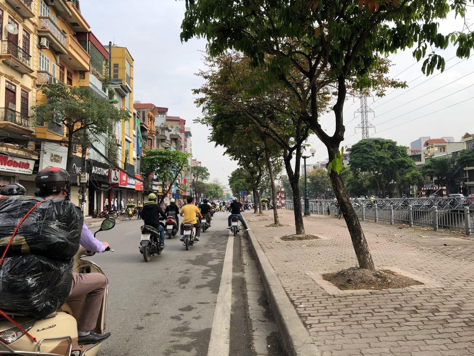Tuyến đường Kim Ngưu ngay mặt tiền đường của dự án Hinode City