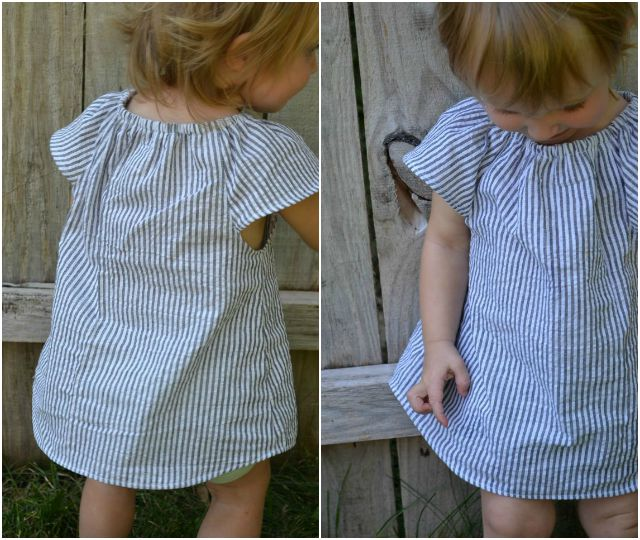 Sewing for Girl: DIY Flutter Sleeve Tunic