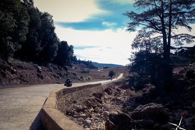 carretera a cascada de I'Oum-er-Rbia