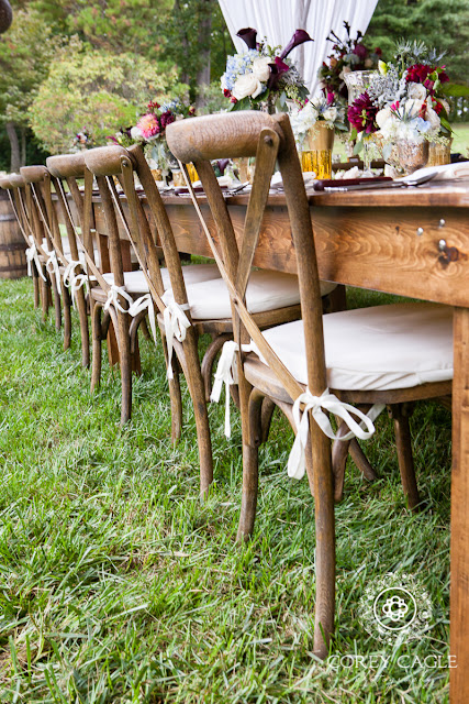 rustic wedding table | Corey Cagle Photography