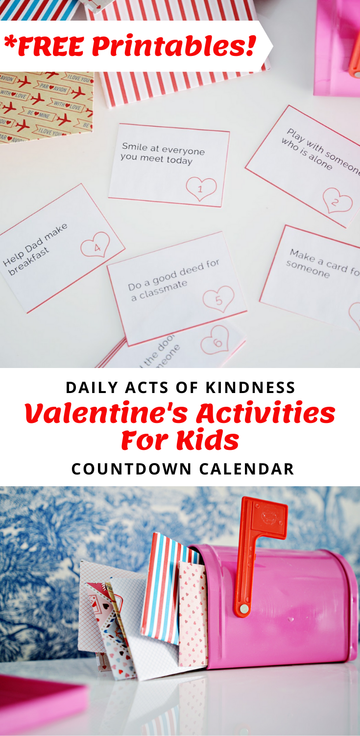 valentines activities for kids, valentine kindness, acts of kindness valentines