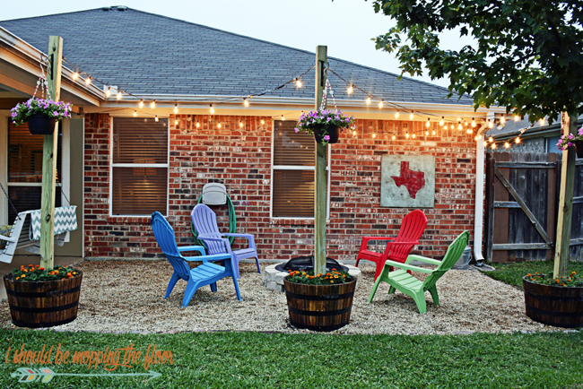 DIY Firepit Patio |i should be mopping the floor