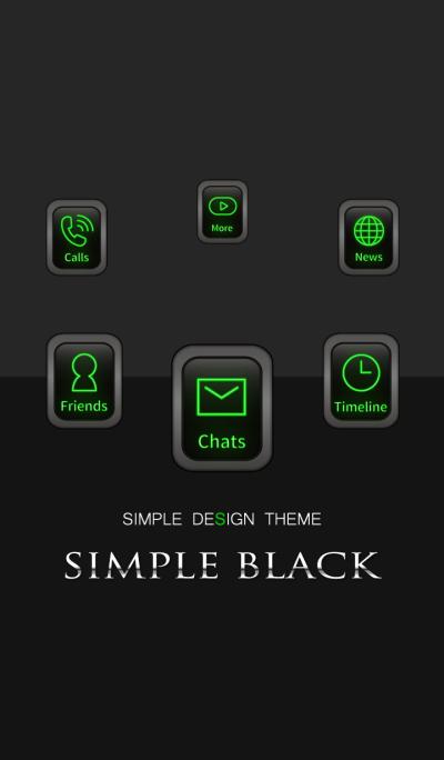 -SIMPLE BLACK - Premium Green Edition 3-