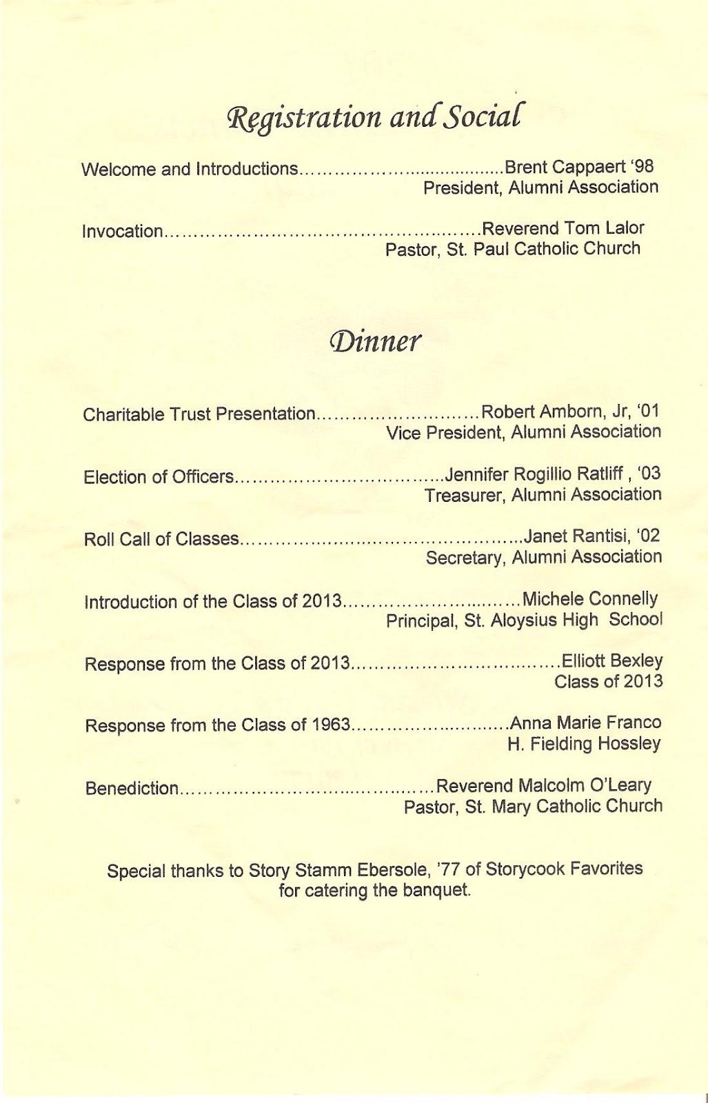banquet program template download