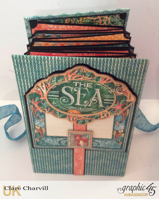 Voyage Beneath the Sea Concertina Album Clare Charvill Graphic 45