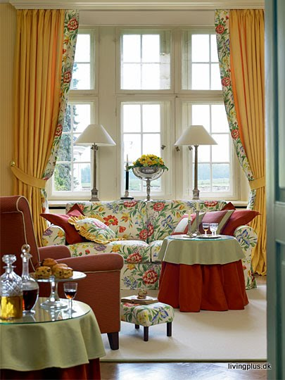 yellow living room color schemes so glittering shabby chic floral 19833