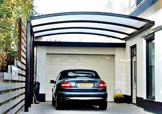Motif Contoh Model dan Desain Gambar Kanopi Garasi Rumah Minimalis