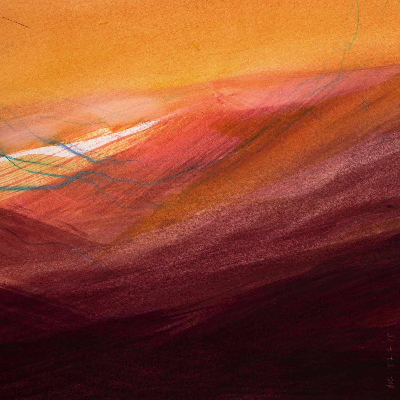 20 x 20 cm, aquarelle et crayons sur papier, 27 juillet 15