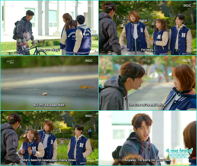 joon hyung apologize to bok joo and her friends and ask he didn't remeber but are they met somewhere before - Weightlifting Fairy Kim Bok Joo - Episode 1 (Eng Sub)
