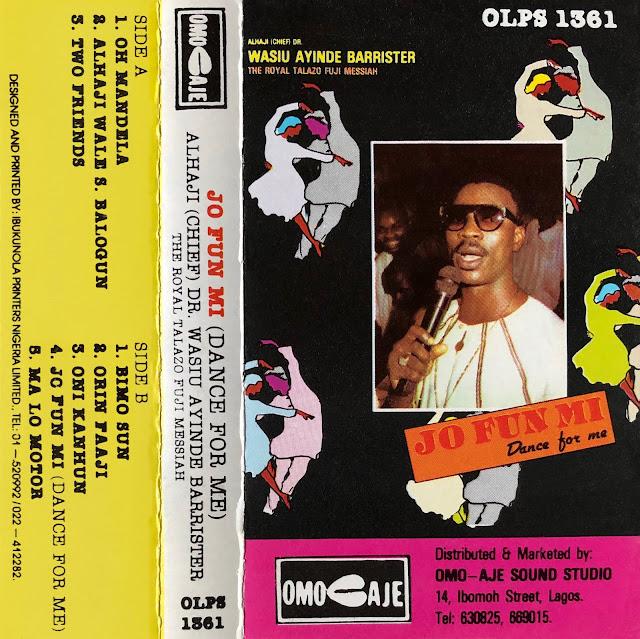 #Nigeria #Yoruba #Fuji music #Wasiu Ayinde # #Kollington Ayinla #Sikiru Barrister #traditional music #African music #world music #talking drums #agogo bells #musique africaine #cassette #Marshall #Lagos