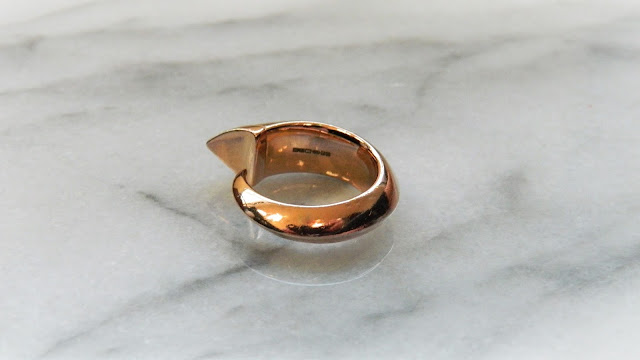 Shaun Leane - Rose Gold Vermeil Tusk Ring - £275.00