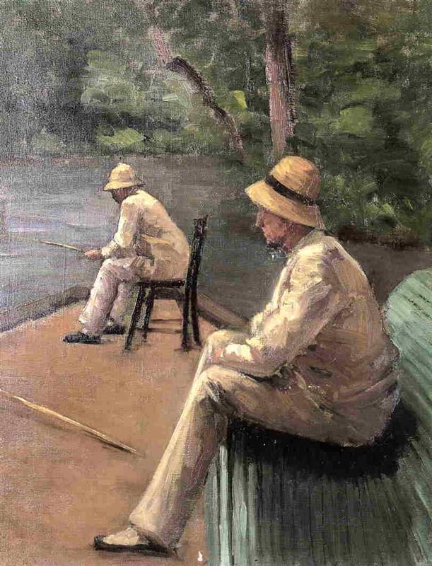 Gustave Caillebotte, Verlust, Sohn, Vater, Krieg, Schicksal, Leid, Vergangenheit, Liebe, Tod, gebrochenes herz, trauer, einsamkeit, stille, nachdenken über das leben, sinnieren, was bringt die zukunft, gefühle, gedanken, paintings, malerei, bild, poetische Art, die zeit,