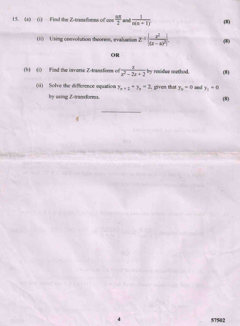 MA6351 Transforms and Partial Differential Equations (TPDE