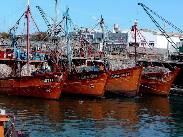 Lanchas pesqueras en Pto. Mar del Plata