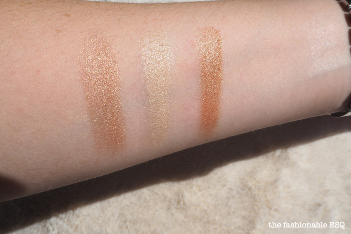 Urban Decay Beauty Beam swatches