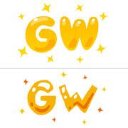 ゴールデンウィークのイラスト「GW」