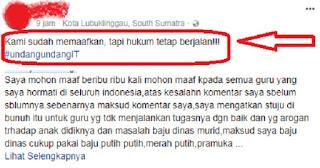 Sebut Guru Jaman Sekarang Setuju Dibunuh, Wanita ini Minta Maaf dan Begini Tanggapan Netizen