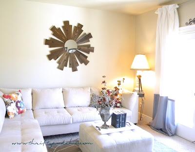 Sunburst Mirror -Ballard Designs Knock off made from Cedar planks only for $11!