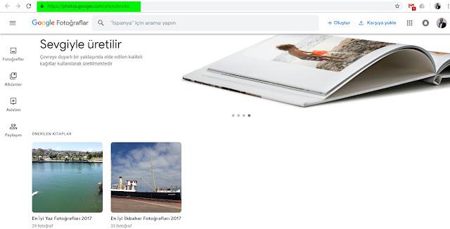 Git Fotoğraf kitapları sitesinde ve 'düğmesine basarak yeni bir kitap başlatın.