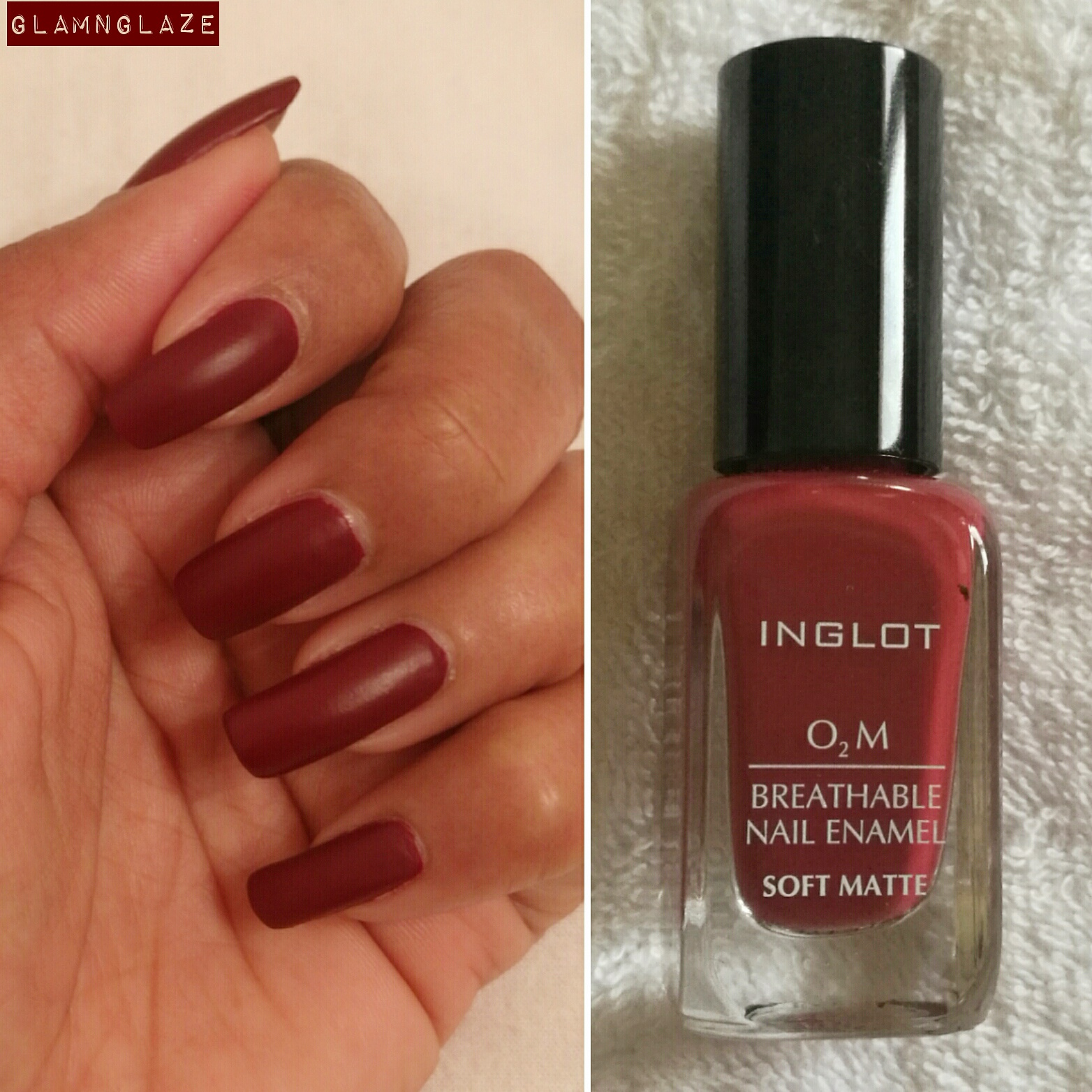 GlamNGlaze: Review : Inglot O2M Breathable Nail Enamel Soft Matte in ...