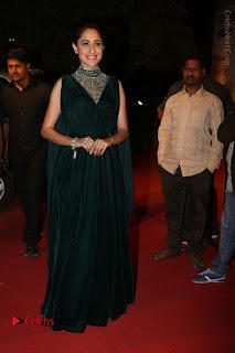 Actress Pragya Jaiswal Stills in Green Long Dress at Gemini TV Puraskaralu 2016 Event  0082.JPG