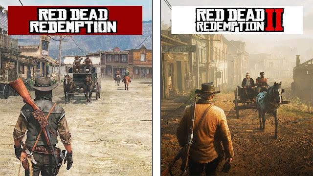 شاهد بالفيديو مقارنة بين رسومات Red Dead Redemption 2 و الجزء الأول ، تطور الرسومات واضح جدا و المزيد من هنا ..