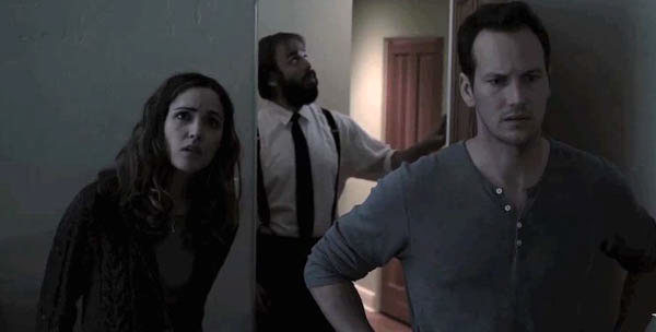 Rose Byrne, some dude and Patrick Wilson in Insidious