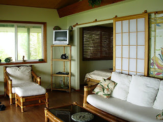 attractive japanese sliding door with white wooden living room furnitures on laminate floor also green wall aceents