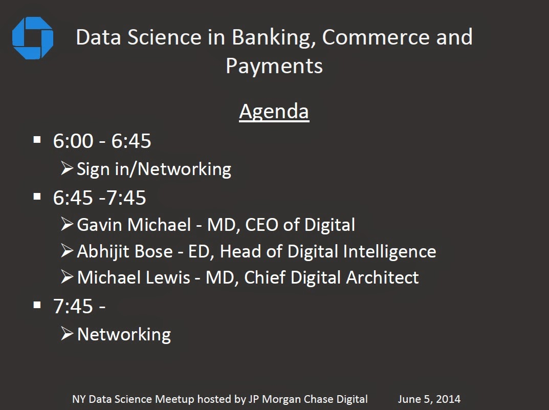 Big Data and Cloud: Wonderful data science event hosted by JP Morgan