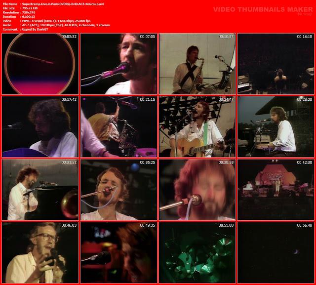 Resultado de imagen de SUPERTRAMP - MELHOR SHOW - Live In Paris 1979 !!!