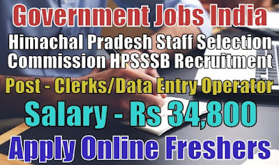 Staff Selection Commission HPSSSB Recruitment 2018