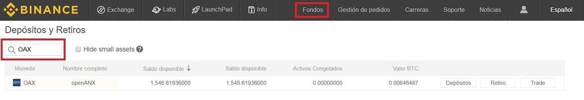 Guía Comprar OAX en Binance y Coinbase y enviar a Wallet Ethereum
