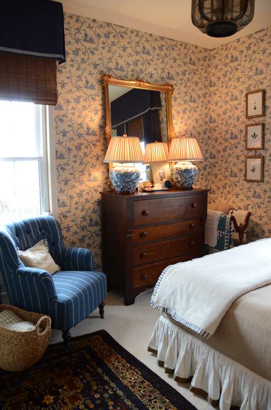 English Country Family Room: Gracious Farmhouse: The Bedroom
