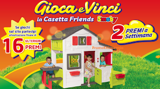 Logo Con Pampers gioca e vinci la Casetta Friends Smoby