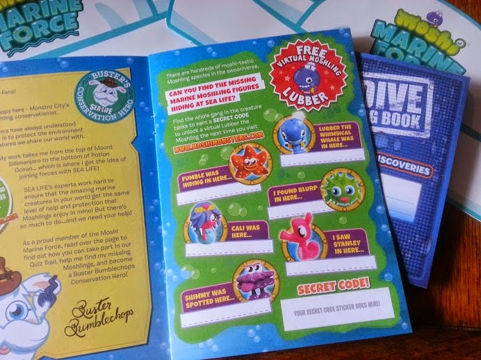 Moshi Monsters Arrive at Sea Life, Trafford Park, Manchester. Moshi Monster Booklets