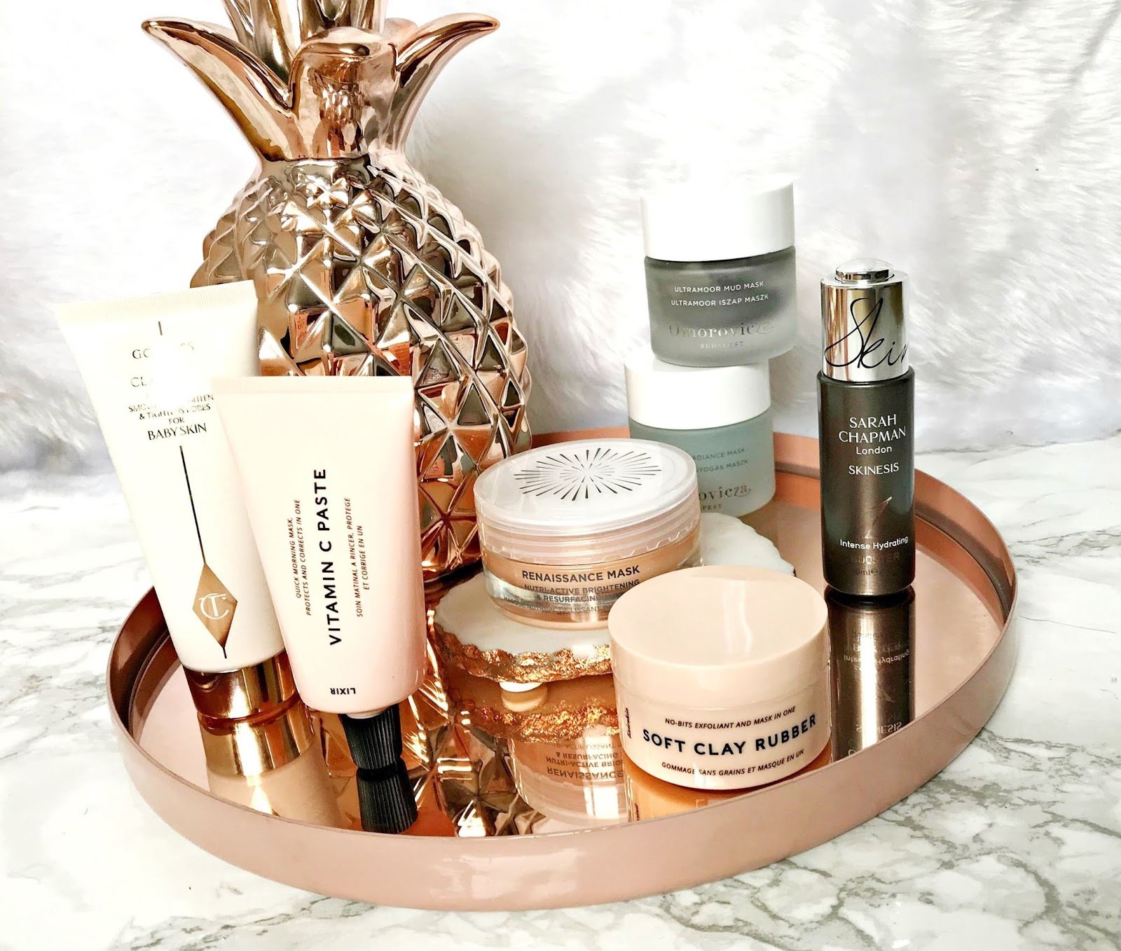 Charlotte Tilbury, Dry Skin, Goddess Skin Clay Mask, Intense Hydrating Booster, Lixirskin, Omorovicza, Omorovicza Midnight Radiance Mask, Omorovicza Ultramoor Mud Mask, Sarah Chapman, skincare,